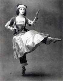 Tamara Karsavina in the ballet `Petrouchka` von Bridgeman Art