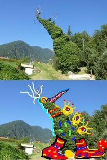 Diptychon 2 Baumrennt /Running Tree von Eckard Maurus