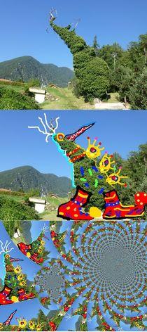 Baumrennt /Running Tree Metamorphose Triptychon by Eckard Maurus
