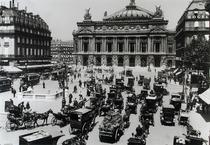 Traffic in front of the Paris Opera House by Bridgeman Art
