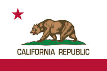 California Republic State Flag - Authentic version by Bruce Stanfield
