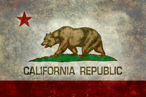 California Republic State Flag - Vintage version by Bruce Stanfield