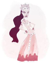Funny Vampire Queen by leni-illustrations