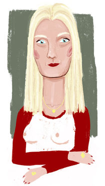 Blonde lady von leni-illustrations