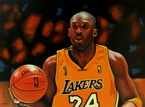 Kobe Bryant painting by Paul Meijering