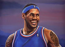 LeBron James painting von Paul Meijering