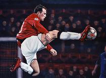 Wayne Rooney painting by Paul Meijering