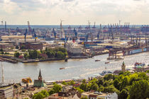 Hamburg von Oben Blick über die Elbe von Dennis Stracke