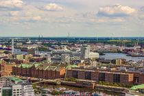 Hamburger Hafen City von Oben von Dennis Stracke