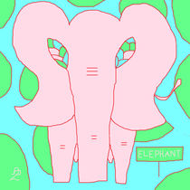 PInk Elephant by Anita Dale Livaditis