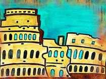 Coliseum of Rome by nellyart