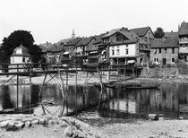 The River Nahe, Bad Kreuznach, c.1910 (b/w photo) by Bridgeman Art