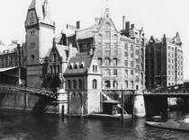 View of the Speicherstadt Hamburg, c1910 by Bridgeman Art
