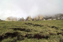 Dolomiten im Nebel von Jens Berger