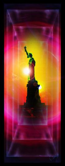 New York  Freiheitsstatue 7 by Walter Zettl