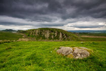Hadrians Wall and Peel Crags von Wayne Molyneux