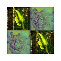 """Viererbild """"Blatt und Blüte"""" pp von lisa-glueck"""