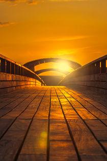 Seebrücke Kellenhusen in gelbgold von Karsten Müller