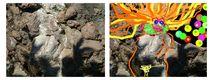 Steinprinzessin Stone princes Metamorphos Diptychon von Eckard Maurus