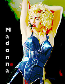 Madonna On Stage by Rose Marie Paradise