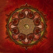 Mandala Flames von Peter  Awax