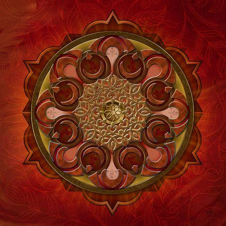 Mandala-flames