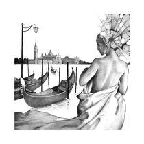 Gondeln in Venedig von Hans Peylo