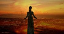 Frau vor dem Morgenrot von Marie Luise Strohmenger