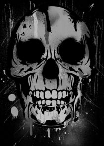 Skull-drips-sybille-challenge-aw-bw