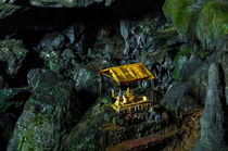 Buddhist Shrine in cave, Laos by Luciano Lepre