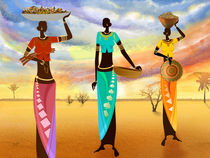 Masai Women Quest For Grains von Bedros Awak