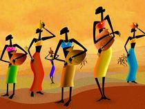 Masai Women Quest For Water von Peter  Awax