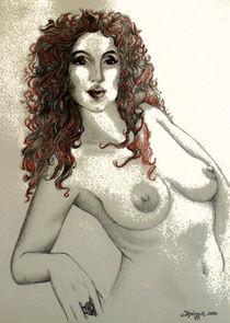 Dame mit rotem Haar von Stephanie Blodau