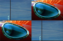 "Viererbild ""Himmelblau im Glas"" by lisa-glueck"