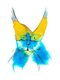 Klexperiment Nr 5 - Katze von Manfred Schmidt