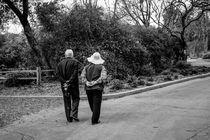 Couple strolling through the park. von Mel Surdin