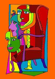 Der rote Sessel von SUSANNE eva maria  FISCHBACH