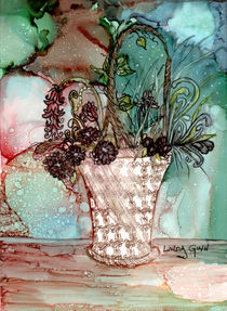 Basket of Flowers von Linda Ginn
