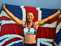 Jessica Ennis-Hill painting by Paul Meijering