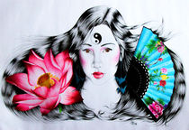 Junge Geisha von Stephanie Blodau