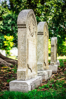 Memphis Elmwood Cemetery Monument - Four In A Row by Jon Woodhams