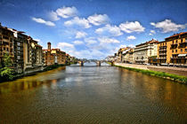 Arno River Florence Italy von Maggie Vlazny
