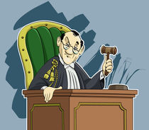 Judge cartoon von William Rossin