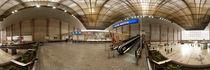Wien, alter Südbahnhof: Untere Brücke in der Halle by Ernst  Michalek