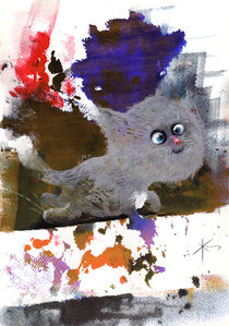 Mixed Media Kitteh by Živko Kondic