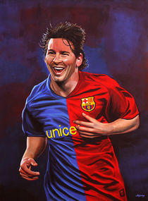 Lionel Messi painting von Paul Meijering
