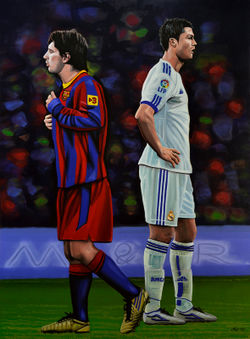 Lionel-messi-and-cristiano-ronaldo-painting