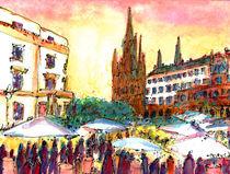 Weinmarkt in Wiesbaden by Ingrid  Becker