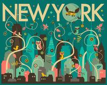 WILD NEW YORK SKYLINE von Jazzberry  Blue