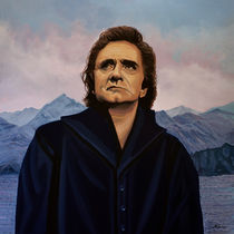 Johnny Cash painting von Paul Meijering